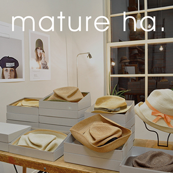 4/2(木)~なくなり次第終了<br>mature ha.帽子入荷